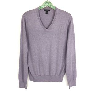 Banana Republic Men's V Neck Sweater Medium Silk